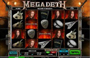 Megadeth slotu spēle